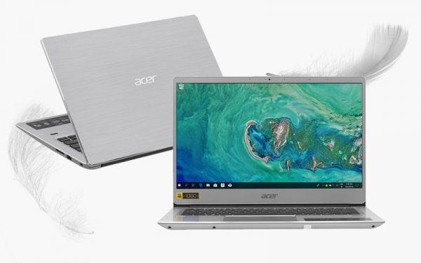 Máy tính xách tay Acer Swift 3 SF314 56 596E i5 8265U/4GB/256GB/Win10 (NX.H4CSV.006)